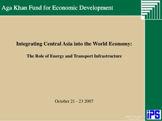Aga Khan Fund for Economic Development