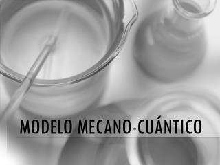 Modelo mecano-cu�ntico