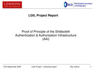 LGfL Project Report