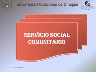 SERVICIO SOCIAL COMUNITARIO