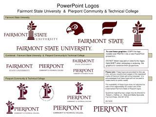 PowerPoint Logos Fairmont State University  &  Pierpont Community & Technical College