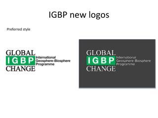 IGBP new logos