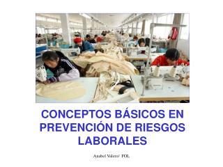 CONCEPTOS B�SICOS EN PREVENCI�N DE RIESGOS LABORALES