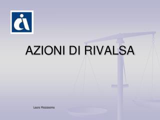 AZIONI DI RIVALSA