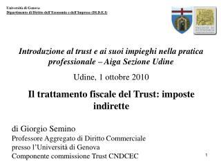 Università di Genova Dipartimento di Diritto dell'Economia e dell'Impresa (DI.D.E.I)