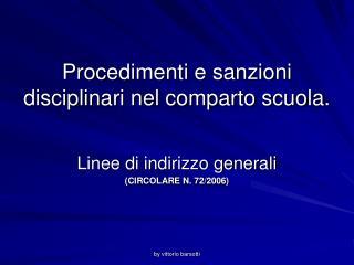 Procedimenti e sanzioni disciplinari nel comparto scuola.