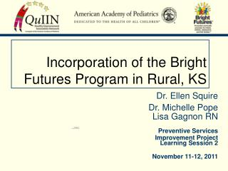 Incorporation of the Bright Futures Program in Rural, KS