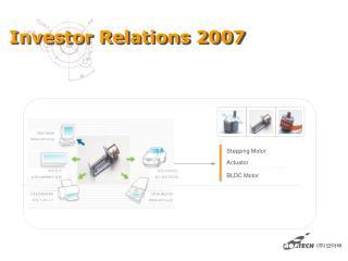 Investor Relations 2007