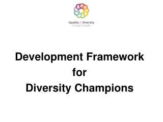 Development Framework  for  Diversity Champions