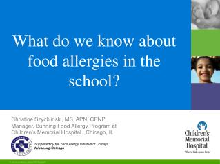 What do we know about food allergies in the school?