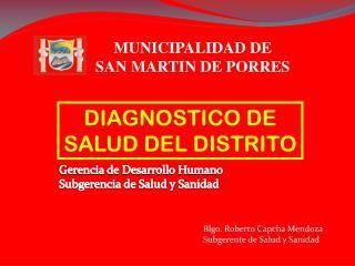 DIAGNOSTICO DE SALUD DEL DISTRITO