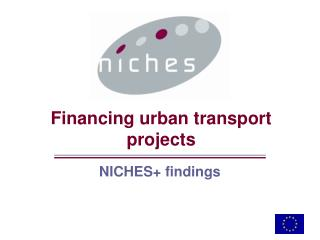 Financing urban transport projects
