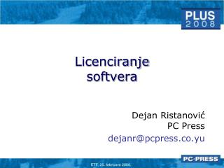 Licenciranje softvera