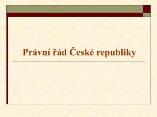Právní řád České republiky