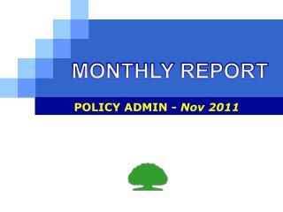 POLICY ADMIN -  Nov 2011