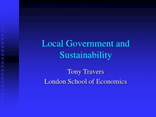 Local Government and Sustainability