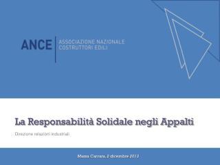 La Responsabilità Solidale negli Appalti