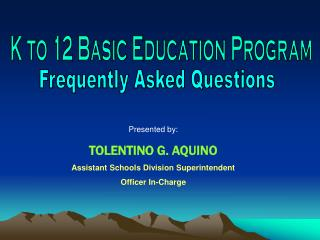 K to 12 Basic Education Program