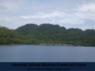 General Island Marine Protected Area General Island, Cantilan, Surigao del Sur