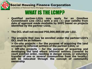 Social Housing Finance Corporation