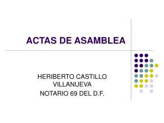 ACTAS DE ASAMBLEA