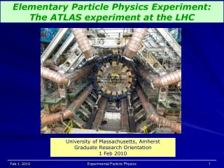 Elementary Particle Physics Experiment: The ATLAS experiment at the LHC