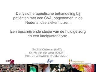 Nicoline Otterman (AMC) Dr. Ph. van der Wees (KNGF)     Prof. Dr. G. Kwakkel (VUMC/UMCU)