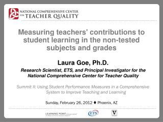 Measuring teachers' contributions to student learning in the non-tested subjects and grades