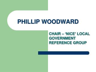 PHILLIP WOODWARD