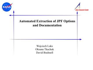 Automated Extraction of JPF Options and Documentation