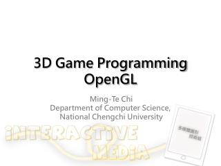 3D Game Programming OpenGL