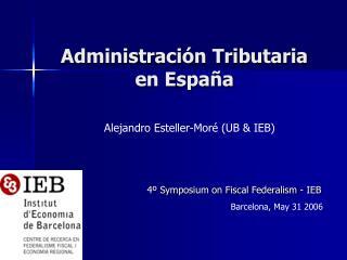 Administración Tributaria  en España