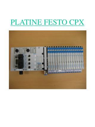 PLATINE FESTO CPX