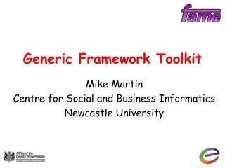 Generic Framework Toolkit