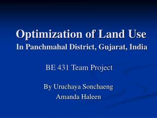 Optimization of Land Use