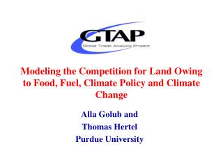 Modeling the Competition for Land Owing to Food, Fuel, Climate Policy and Climate Change
