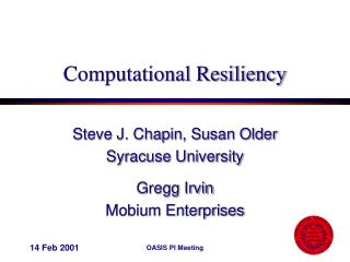 Computational Resiliency