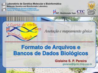 Formato de Arquivos e  Bancos de Dados Biológicos