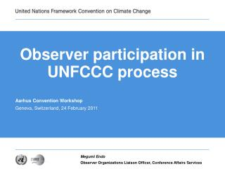Observer participation in UNFCCC process