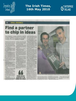 The Irish Times,  16th May 2010