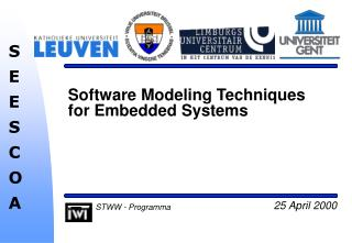 Software Modeling Techniques for Embedded Systems