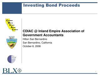 Investing Bond Proceeds