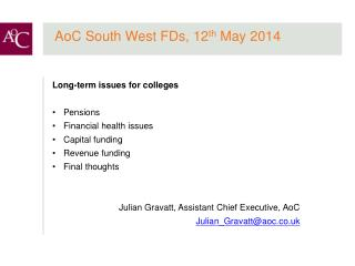 AoC South West FDs, 12 th  May 2014