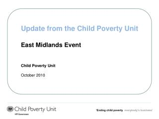 'Ending child poverty   everybody's business'
