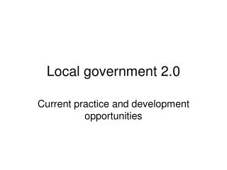 Local government 2.0