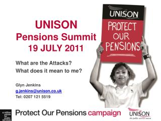 UNISON Pensions Summit 19 JULY 2011