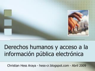 Derechos humanos y acceso a la información pública electrónica