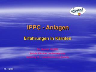 IPPC - Anlagen