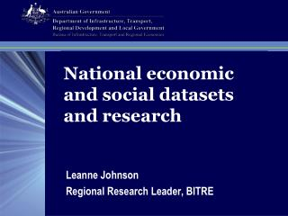National economic and social datasets and research