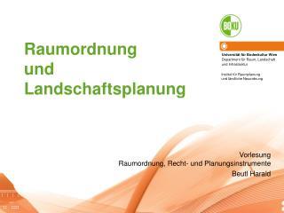 Raumordnung  und  Landschaftsplanung
